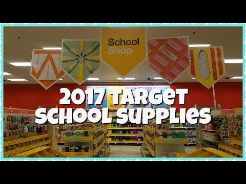 2017 TARGET SCHOOL SUPPLIES SHOPPING