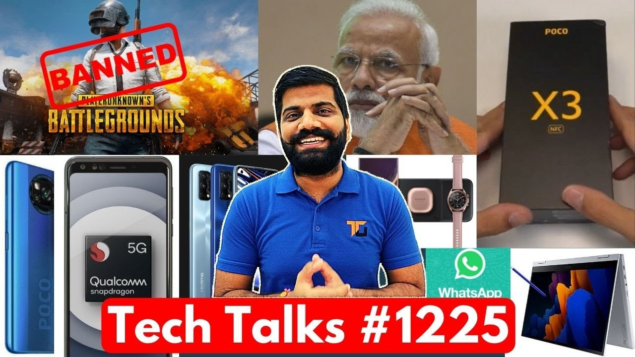 Tech Talks #1225 - Poco X3 Unboxing, China on PUBG BAN, PM Modi Twitter Hack, Cheapest 5G, Realme 7