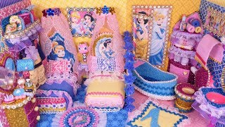 DIY Miniature Cinderella, Snow white Bedroom and Bathroom Decor~ Disney Princess Dollhouse