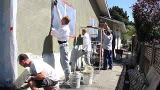 Apply a Cement plaster or Stucco Sand/Float finish