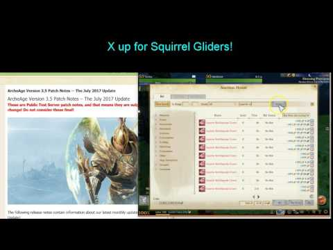 Archeage 30 squirrel gliders royal seed 800 vocation badges