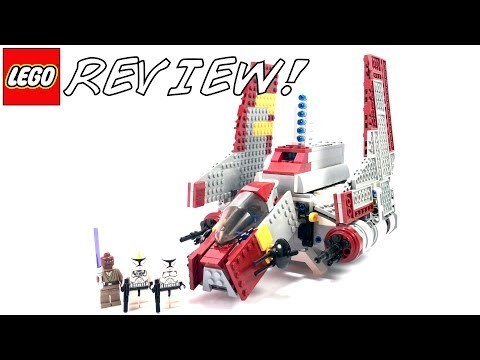 LEGO Star Wars 8019 Republic Attack Shuttle Review!   2009 Clone Wars LEGO Set!