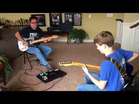 Bram Rawlings jamming with Brent Mason