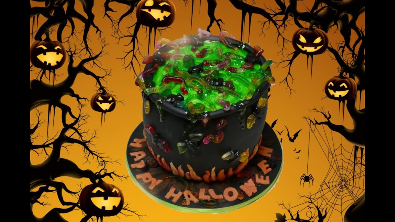 halloween torte fondanttorte f r eure halloween party von nicoles zuckerwerk youtube. Black Bedroom Furniture Sets. Home Design Ideas