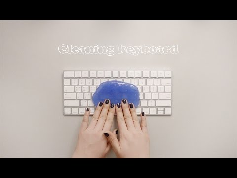 ⌨️ ASMR 젤리 클리너로 키보드 청소하기 Cleaning Keyboard with slime   brushing, typing, no talking, 노토킹