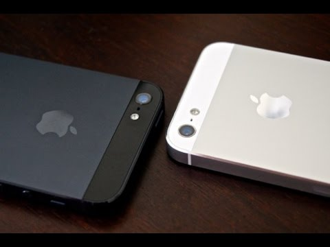 Apple IPhone 5 Black And Slate VS White Silver Unboxing