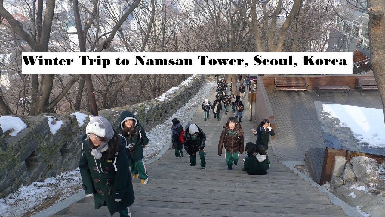 traveling to korea feeling freezing in namsan tower. Black Bedroom Furniture Sets. Home Design Ideas