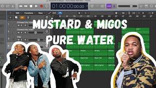 Trap Beat из 7 инструментов в Logic Pro X Mustard&Migos - Pure Water Remake