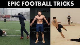 Невероятные футбольные и силовые трюки Дениса Вовка Кто же он Силач или футболист