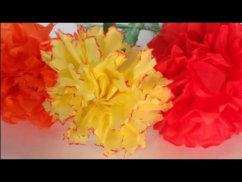 How to Make a Tissue Paper Carnation - Easy Step-by-step DIY Flower Tutorial