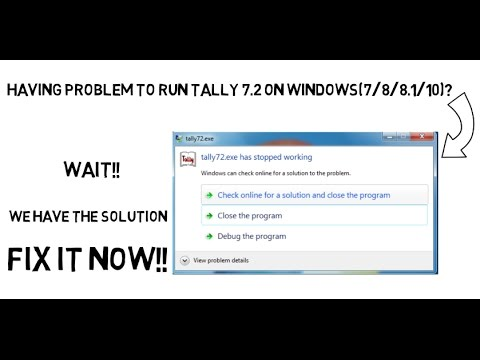 how to install tally 7.2 on windows 7