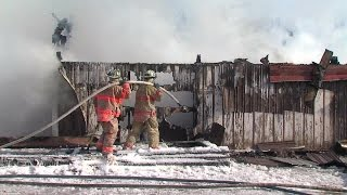Tallmadge Barn Fire - Several Horses Dead