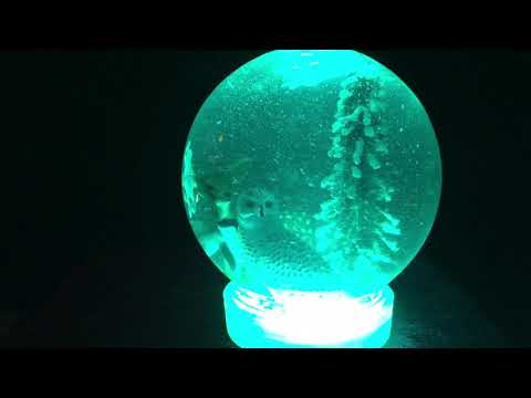 Bluetooth Snow Globe Demo Scene @adafruit @johnedgarpark #adafruit