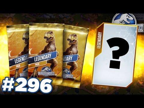 TRIPLE LEGENDARY PACK!!!    Jurassic World - The Game - Ep296 HD