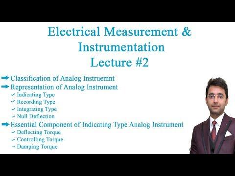 Electrical Measurement & Instrumentation Lecture # 2
