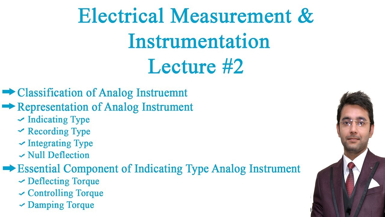 Electrical Measurement Instrumentation Lecture 2 Youtube