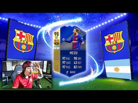 OMG I PACKED 98 TOTS MESSI FIFA 18