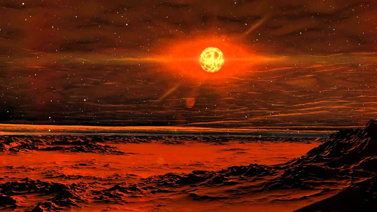 Betelgeuse sunrise from one of its planets - YouTube
