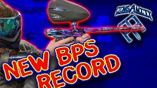 Jake (Team Insanity Paintball) Breaks Current BPS Record w/ Bob Long Marker