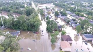 Aerial View Of Baton Rouge Flooding