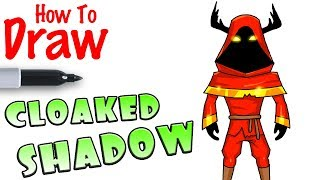 How to Draw Cloaked Shadow | Fortnite
