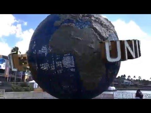 Universal Orlando rotating globe.