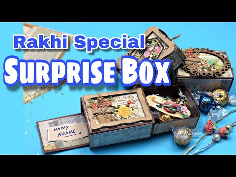 Double Sided Chocolate Box Card ~ Raksha Bandhan Gift for Brothers ~ Payal Bhalani