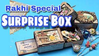 Double Sided Chocolate Box Card ~ Raksha Bandhan Gift for Brothers ~ Payal Bhalani