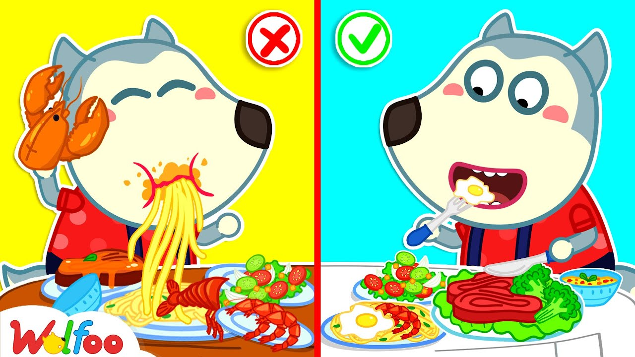 Download No No, Baby Wolfoo! Keep Your Table Manners! - Kids Stories About Baby Wolfoo | Wolfoo Channel