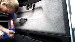 Как снять обшивку карту передней двери FIAT TEMPRA(1995)demontaz boczka drzwi przod/door panel remov