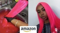 AMAZON WIG SLAY   CHEAP 613 13x6 WIG   Hot PINK