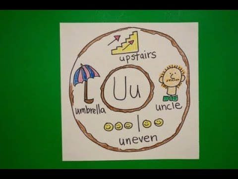 Let's Draw an Alphabet Donut-Letter U