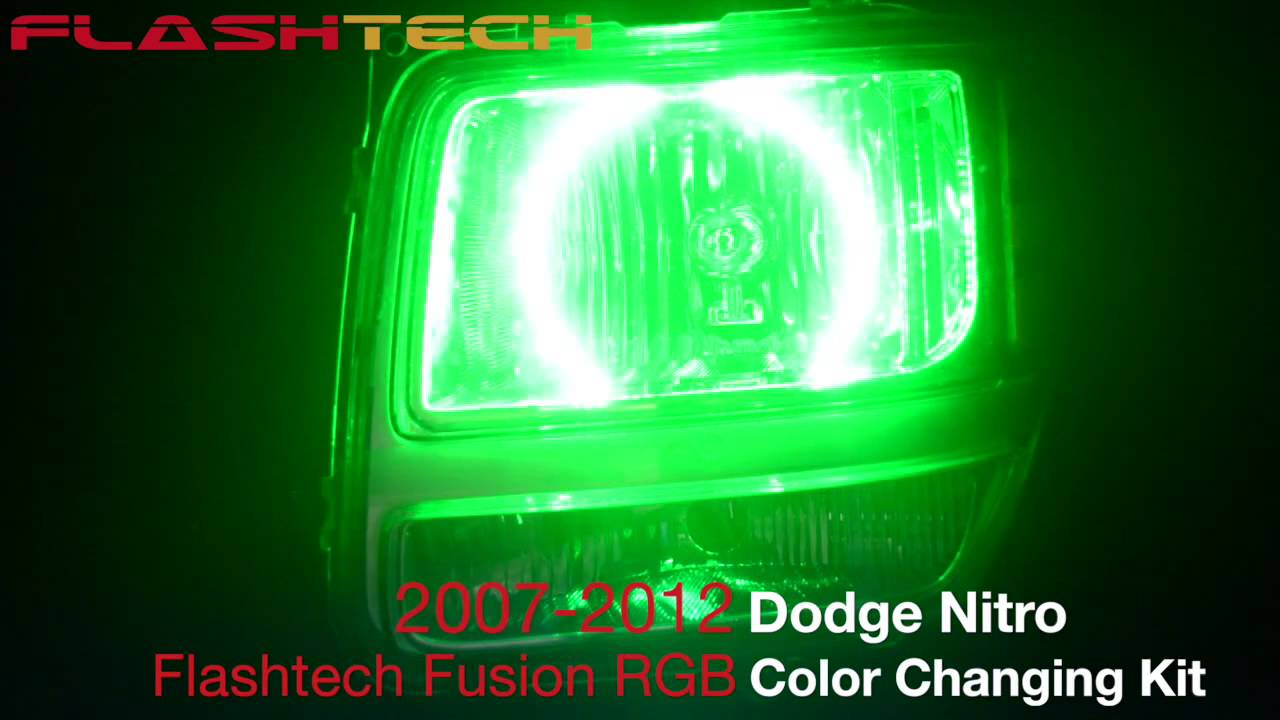 dodge nitro v 3 fusion colorshift halo headlight kit 2007