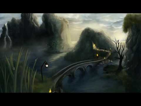 How to paint a fantasy landscape scenery – Timelapse