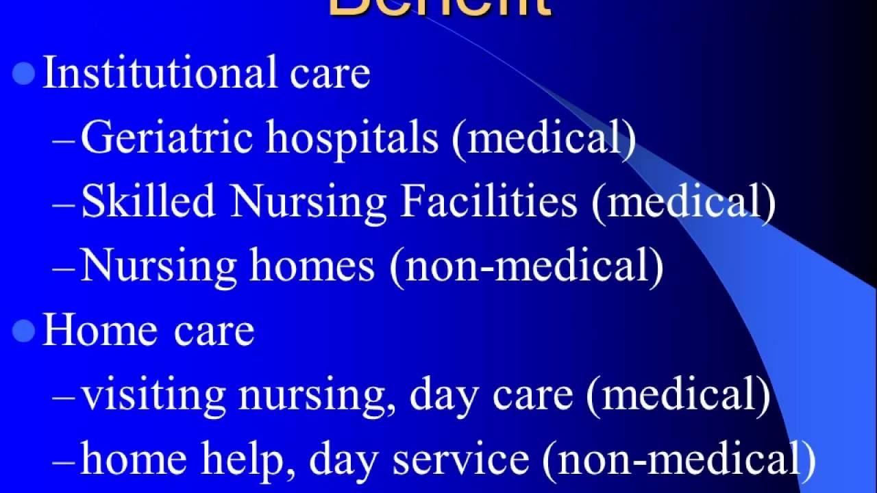 geriatrics and long term care