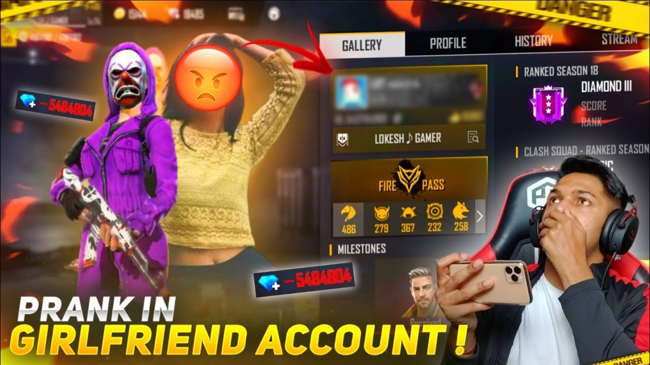 I did A Prank In My Girlfriend Account And She Left Me [ JUST KIDDING 😂 ] At Garena Free Fire 2020