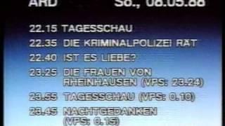 kompletter Sendeschluss ARD 7.5.1988