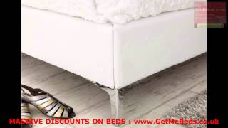 70% Off -  White Faux Leather Beds Visit Getmebeds.co.uk