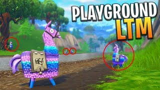 *NEW* PLAYGROUND LTM UPDATE! UNLIMITED MATERIALS, LLAMAS AND LIVES - Fortnite: Battle Royale