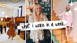 WHAT I WORE IN A WEEK with Katie Ellison | SJ STRUM