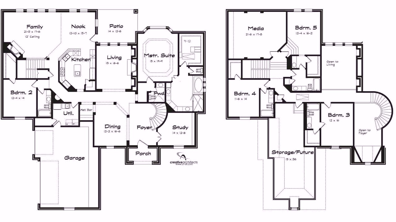 3 Bedroom House Plans No Garage - Gif Maker DaddyGif.com (see description)