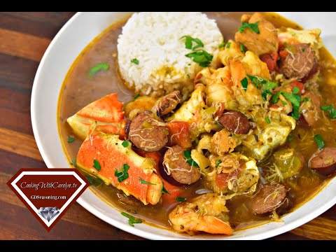 Chicken, Sausage, and Seafood Gumbo for the Holidays |Step by Step |Cooking With Carolyn