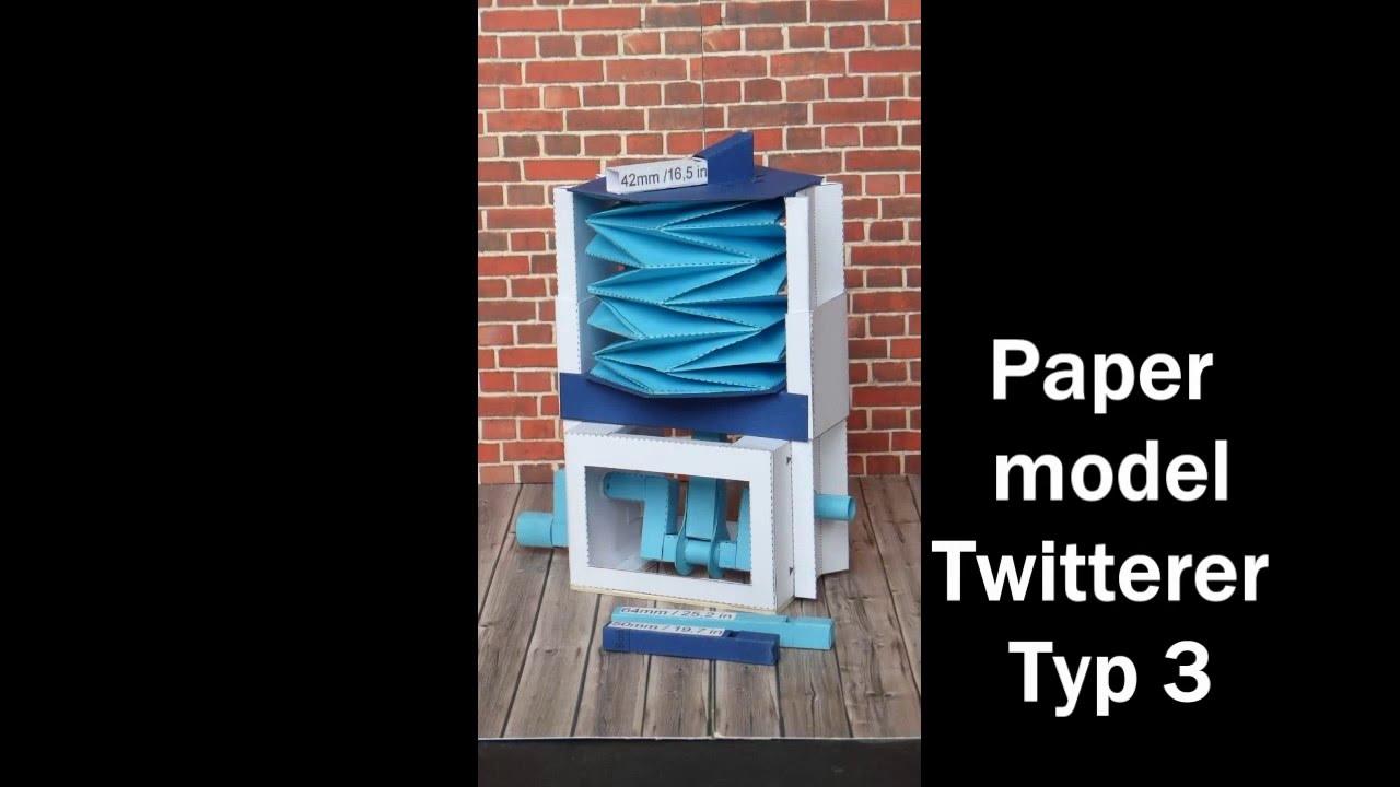 Papercraft Paper model Twitterer Typ 3