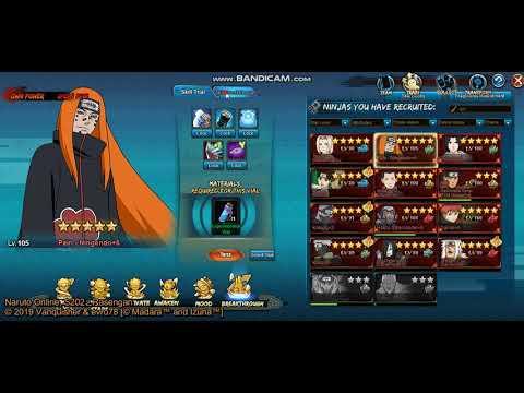 Naruto online - Pain - Ningendo - Skill Breakthrough (SB) & Skill Trial (Y  skills)