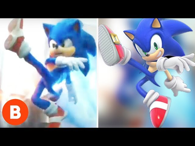 Sonic The Hedgehog Old And New Design Comparison Youtube