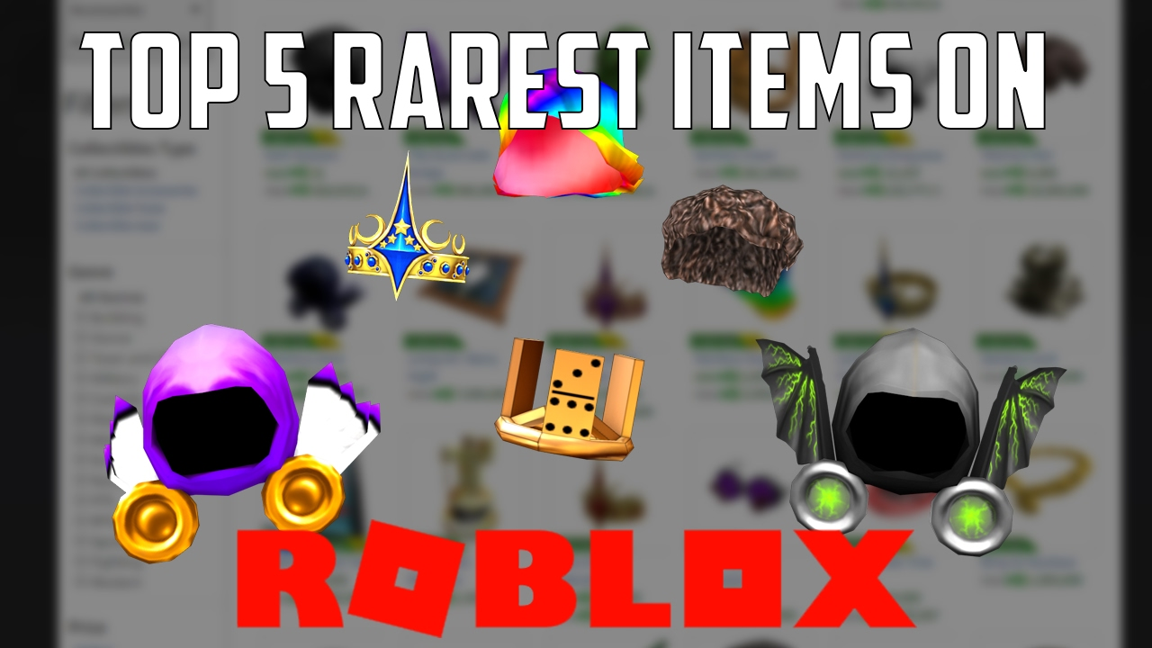 Top 5 Rarest Items on ROBLOX - YouTube