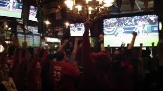 Fans at Foley's Pub in NYC root on Cards