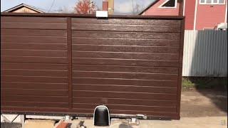 видео Комплектующие для откатных ворот весом до 800 кг, купить комплект откатных ворот недорого