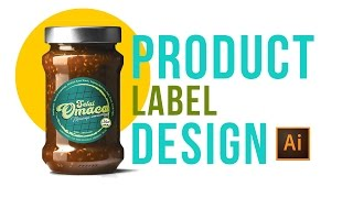 ADOBE ILLUSTRATOR TUTORIAL : How to Design a Product Label