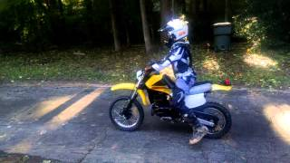 Jackson riding 80 dirt bike for first time